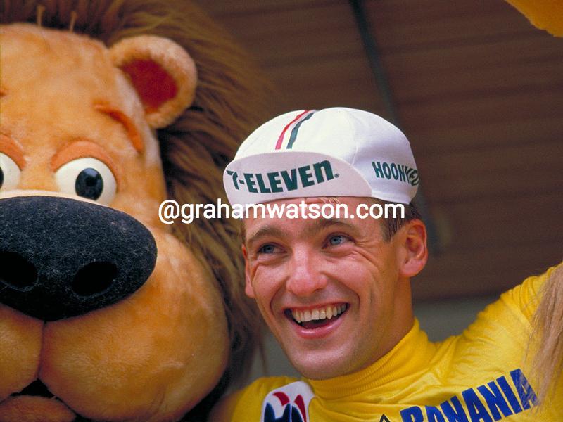 Alex Stieda in the 1986 Tour de France