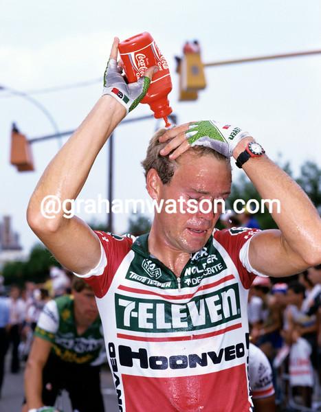 Jeff Bradley in the 1986 Tour de France