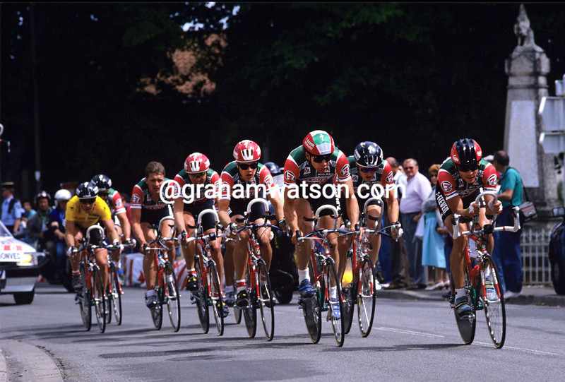 The 7-Eleven team in the 1990 Tour de France