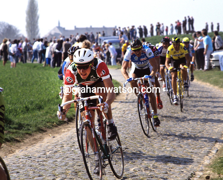 Jon Tomac in the 1990 Tour of Flanders