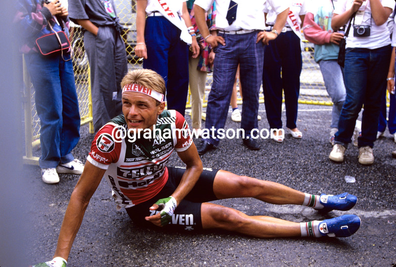 Dag-Otto Lauritzen after winning a stage of the 1987 Tour de France