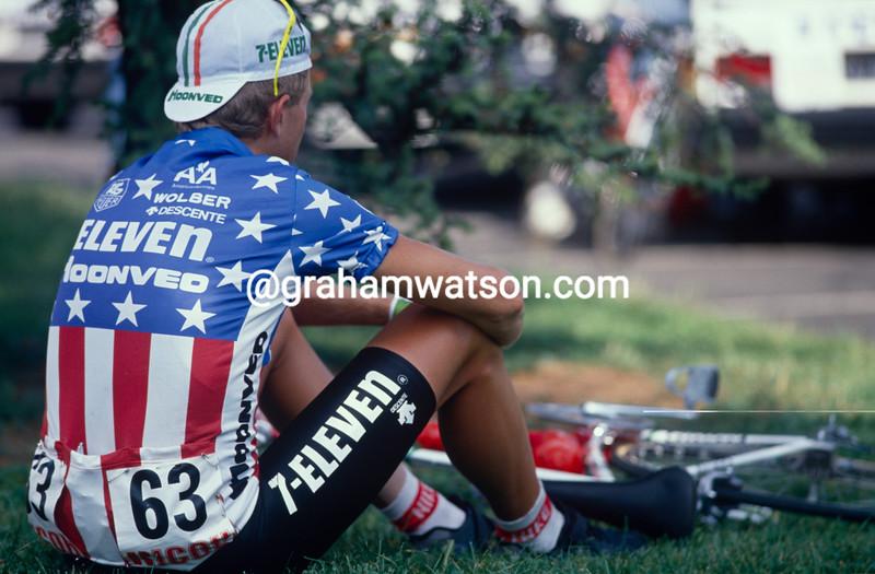 Ron Kiefel before a stage of the 1993 Tour de France