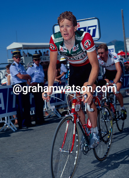 Andy Bishop in the 1990 Tour de France