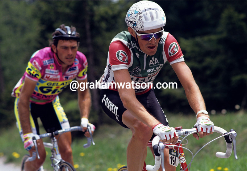 Urs Zimmerman in the 1989 Giro d'Italia