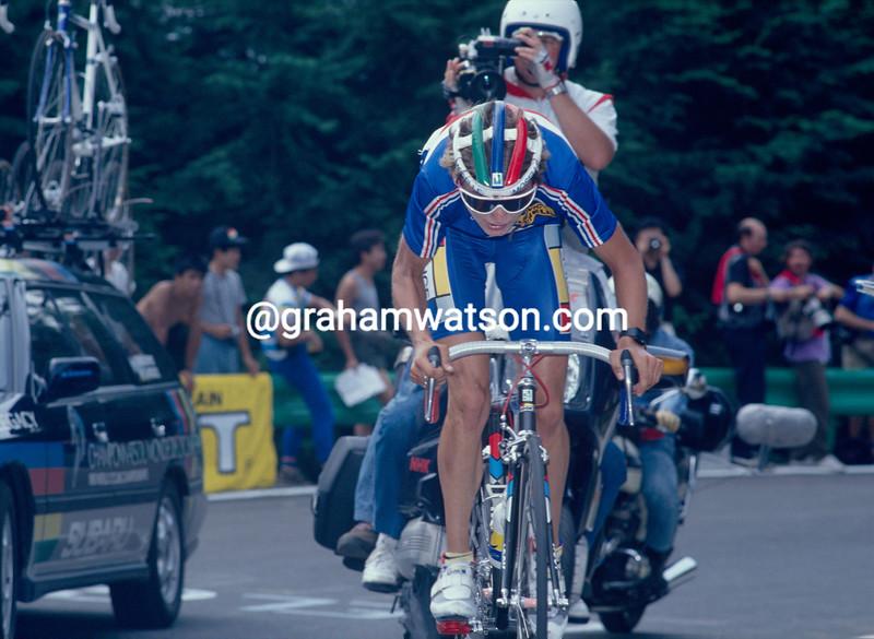 Catherine Marsal on her way to winning the 1990 World Championships