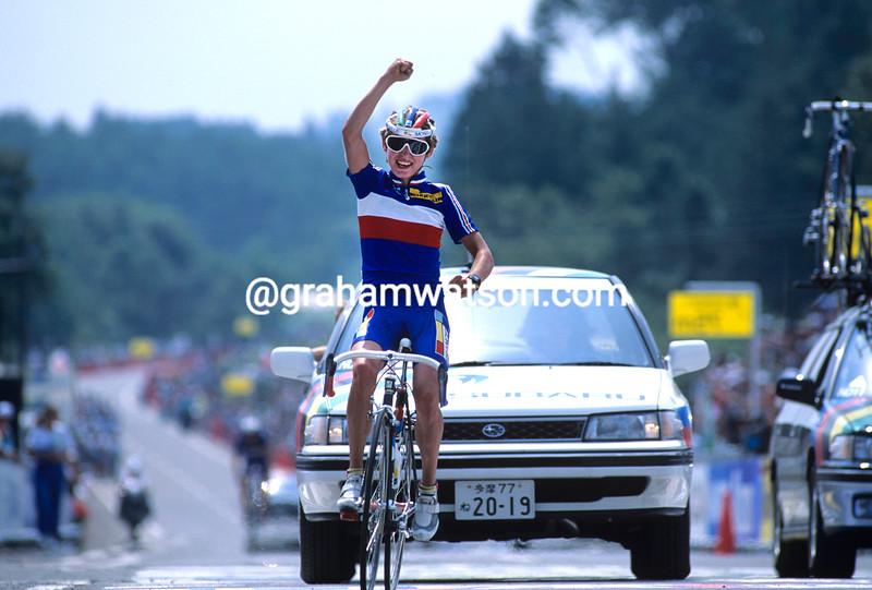 Catharine Marsal wins the 1990 world title