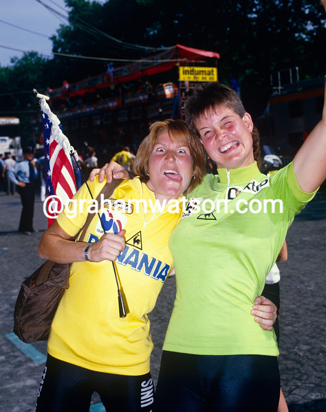 Marianne Martin ans Mieke Havik at the 1984 Tour Feminin
