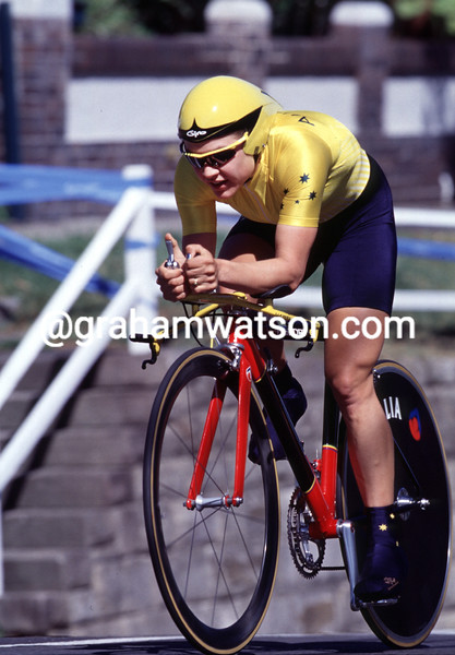 Anna Wilson in the 2000 Olympic Games TT