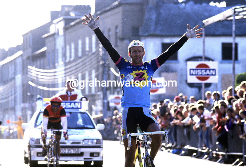 Johan Lammerts wins a stage of the 1986 Tour of Ireland