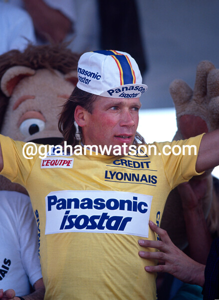 Henk Lubberding on a stage of the 1990 Tour de France