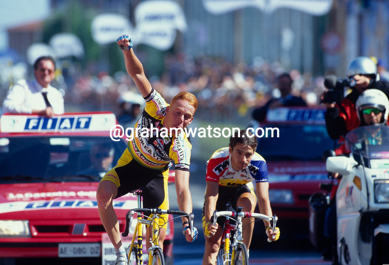 Bo Larsen wins a stage of the 1996 Giro d'Italia