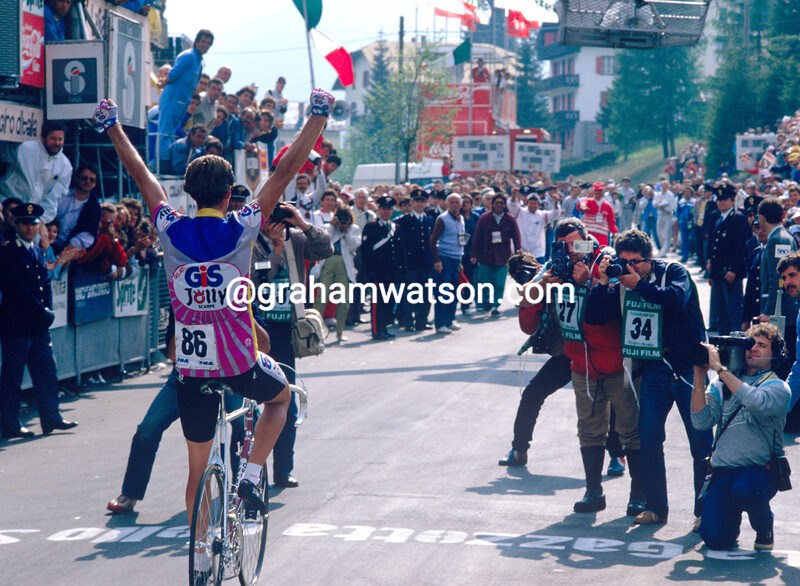 Johan Van der Velde wins a stage in the 1987 Giro d'Italia