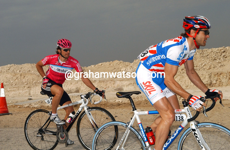 AART VIERHOUTEN AND SERVAIS KNAVEN ON STAGE THREE OF THE TOUR OF QATAR
