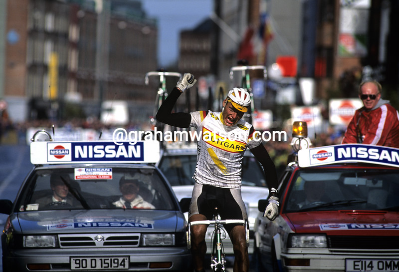 Berndt Grone wins a stage of the Tour of Ireland