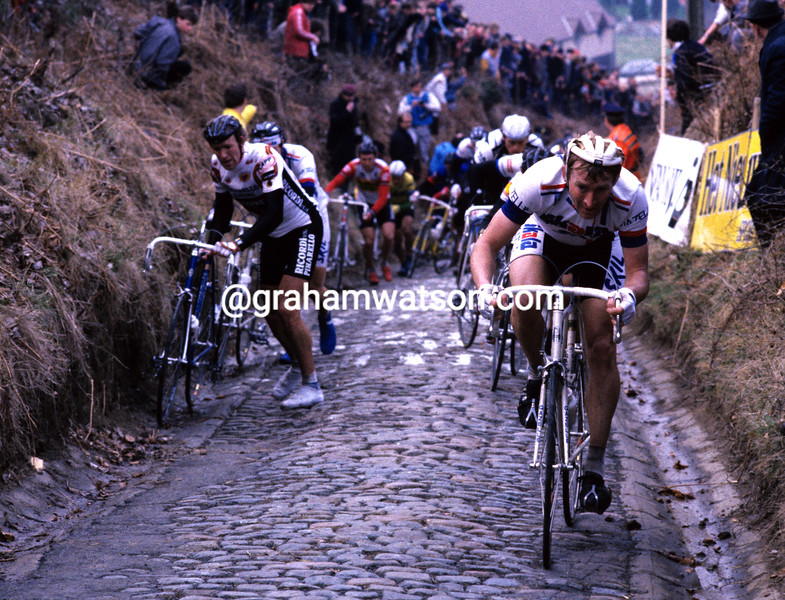 Ferdi Van den Haute on the Koppenberg in 1985