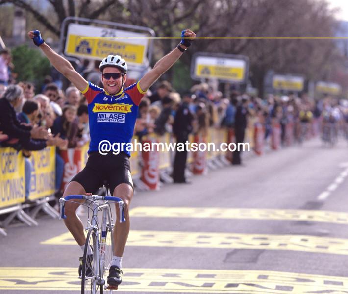 Eddy Bouwmans wins a stage of the 1989 Criterium International