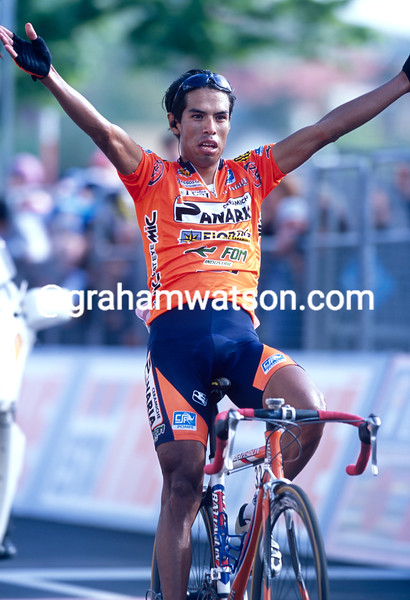 Julio Perez Cuapio in the 2001 Giro d'Italia