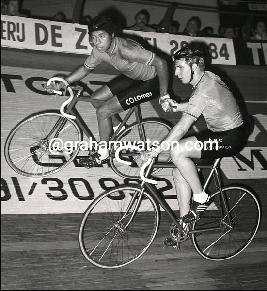MAURICE BURTON IN THE GHENT SIX-DAY RACE