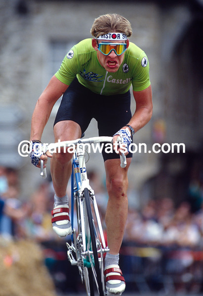 Soren Lilholt on a stage of the 1991 Tour de France