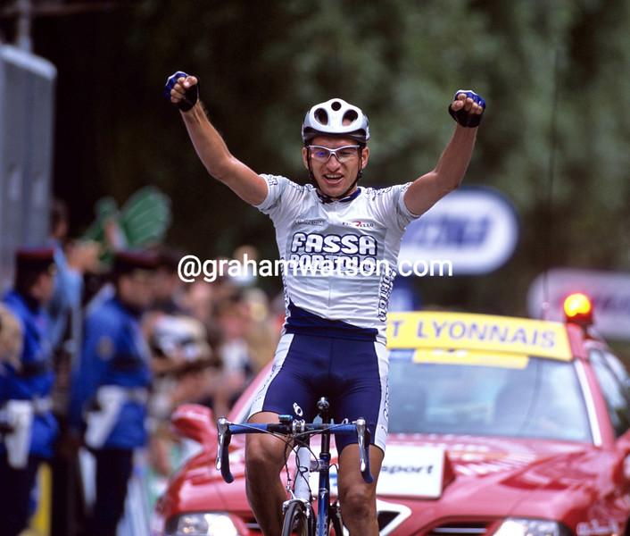 Serguei Ivanov wins a stage of the 2001 Tour de France