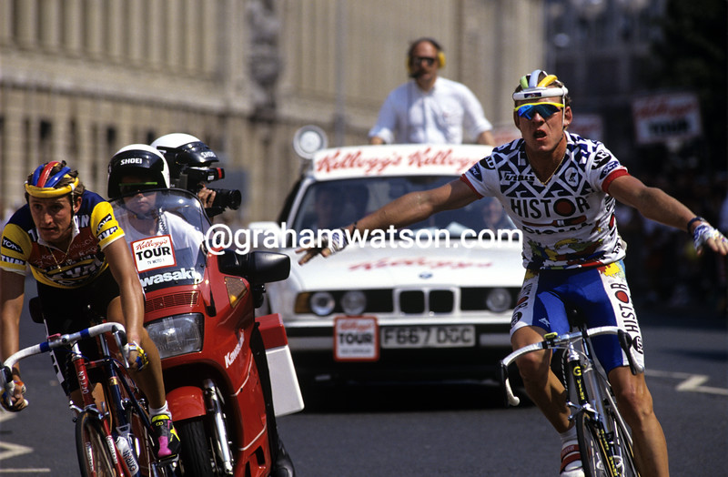 Soren Lilholt wins a stage of the Kelloggs' Tour