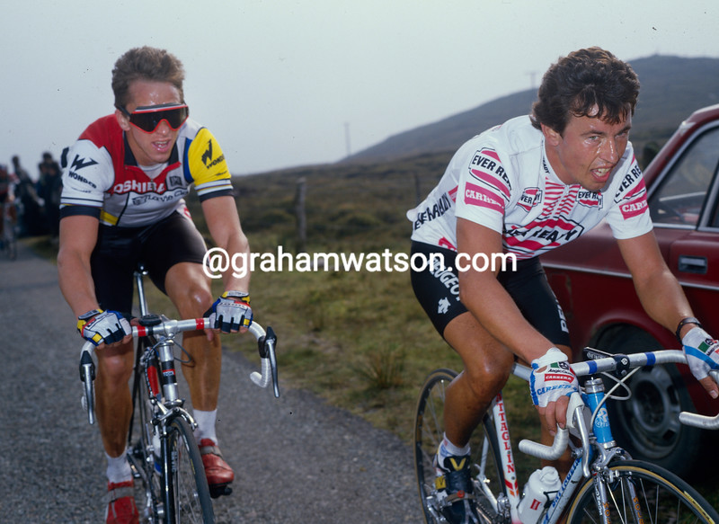 Eddy Schepers and Greg. LeMond in the 1986 Nissan Classic