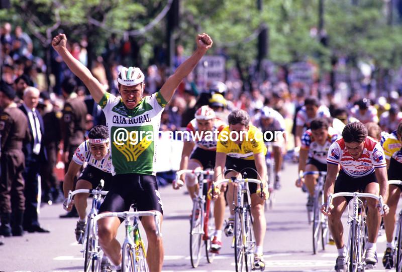 Mathieu Hermans wins a stage of the 1988 Vuelta a España