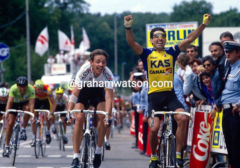 Acacio DaSilva wins a stage of the 1988 Tour de France