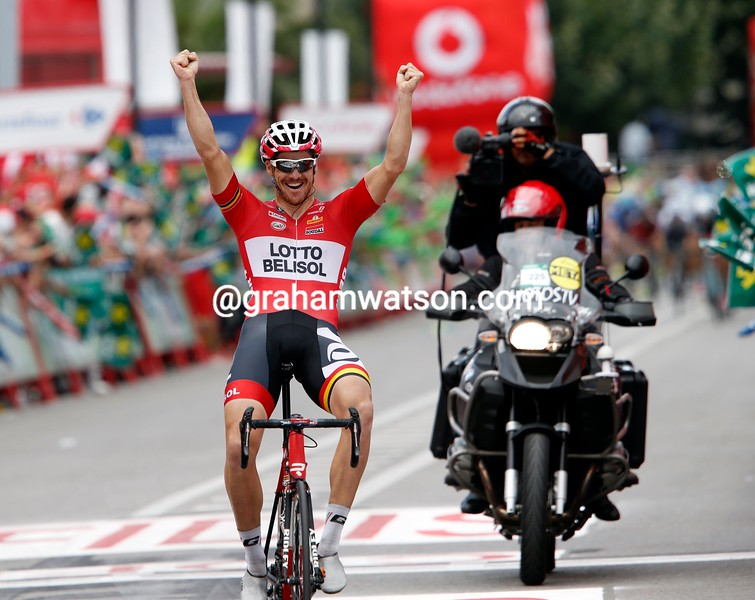 Adam Hansen wins stage nineteen of the 2014 Tour of Spain