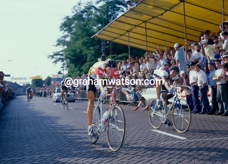 Adri Van der Poel in the Chaam criterium in 1986