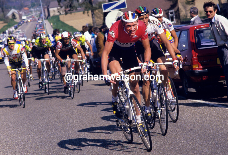 Adri Van der Poel in the 1988 Amstel Gold Race