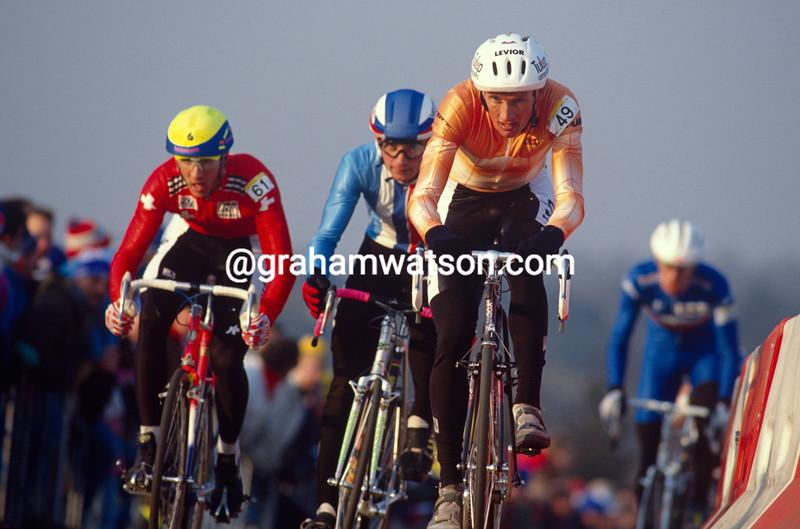 Adri Van der Poel in the 1991 World Cyclo-Cross championships