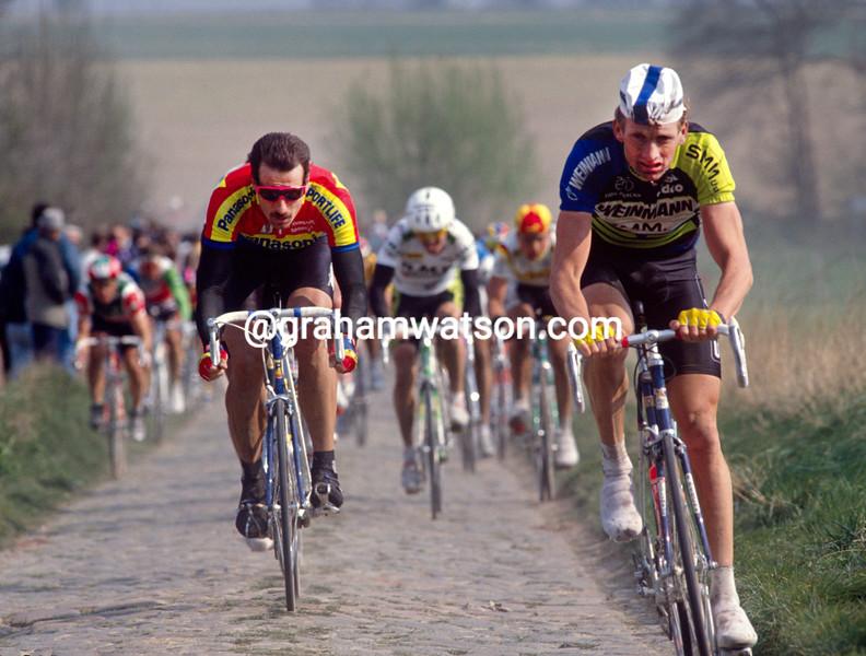 Adrie Van der Poel in the 1992 Paris-Roubaix