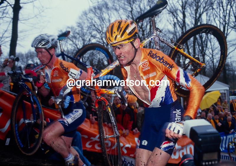 Adri Van der Poel in the 1996 World Cyclo-Cross Championships
