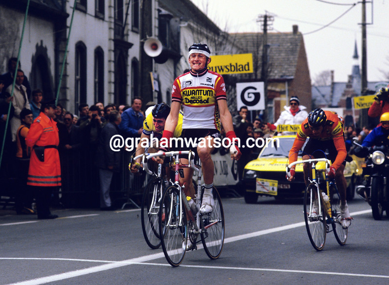 Adri Van der Poel in the 1986 Tour of Flanders