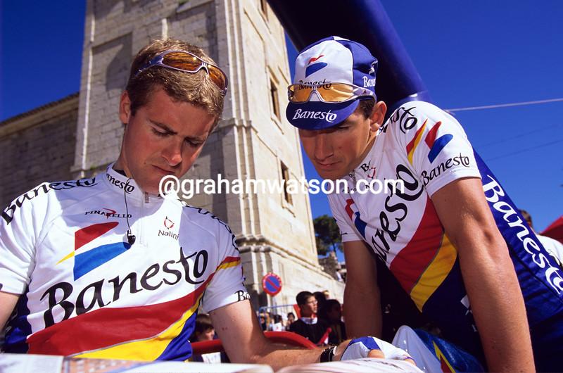 Aitor and Unai Osa in the 1995 Tirreno-Adriatico