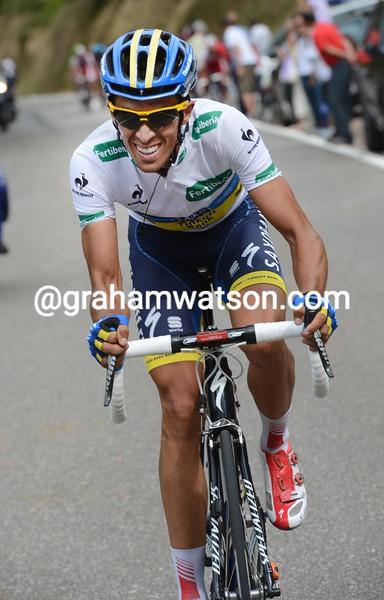 Alberto Contador on stage seventeen of the 2012 Vuelta EspaÒa
