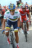 Alberto Contador on stage fifteen of the 2012 Tour of Spain