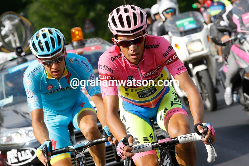 Alberto Contador on stage twenty of the 2015 Tour of Italy
