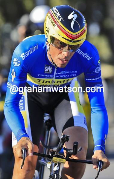 Alberto Contador on stage seven of the 2014 Tirreno Adriatico