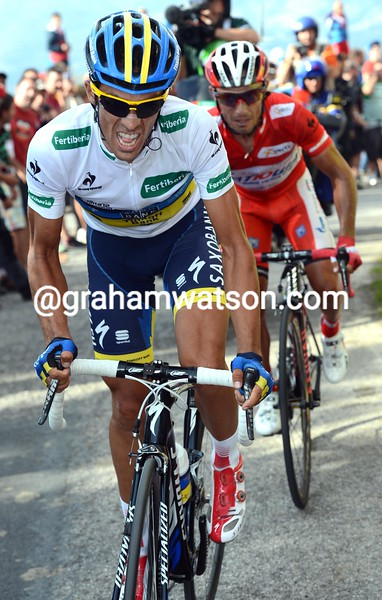 Alberto Contador on stage fifteen of the 2012 Vuelta EspaÒa
