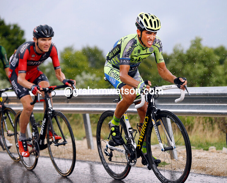 Alberto Contador on stage twelve of the 2015 Tour de France