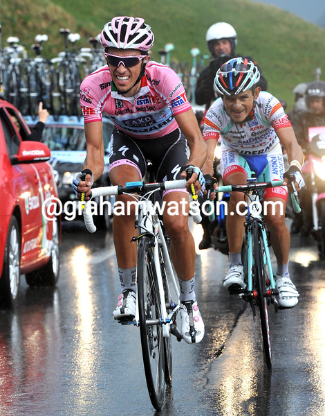 ALBERTO CONTADOR AND JOSE RUJANO ON STAGE THIRTEEN OF THE 2011 GIRO D'ITALIA