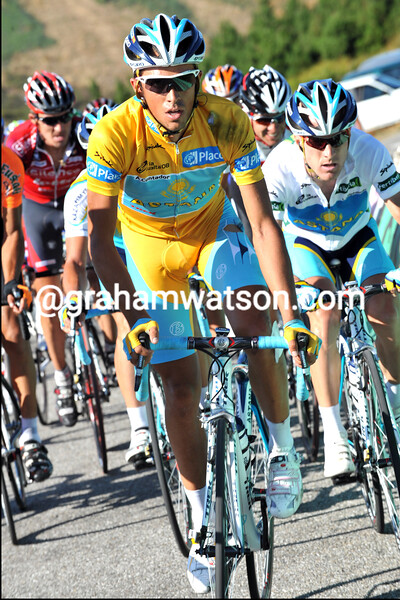 ALBERTO CONTADOR ON STAGE FIFTEEN OF THE 2008 TOUR OF SPAIN