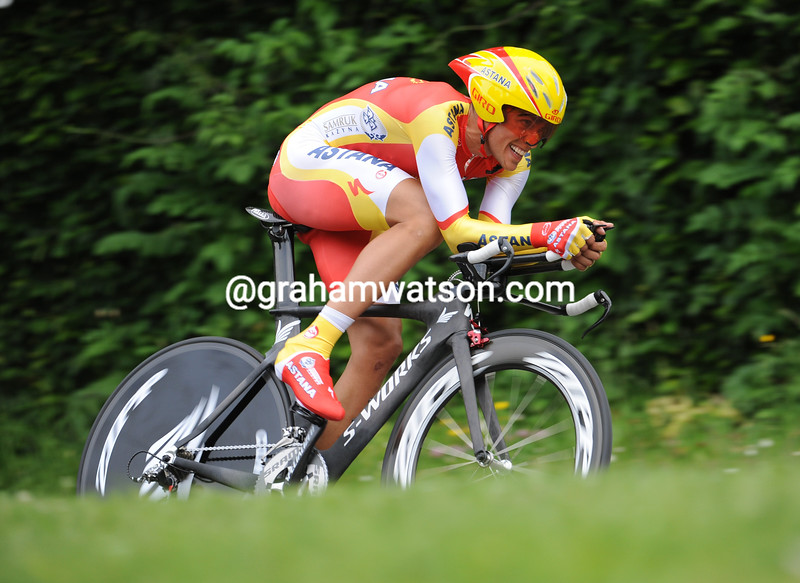 ALBERTO CONTADOR WINS THE PROLOGUE OF THE 2010 DAUPHINE-LIBERE