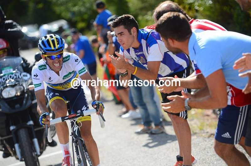 Alberto Contador on stage fourteen of the 2012 Vuelta EspaÒa