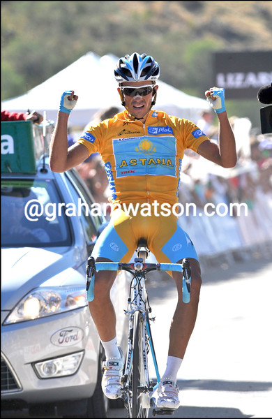ALBERTO CONTADOR WINS STAGE FOURTEEN OF THE 2008 TOUR OF SPAIN