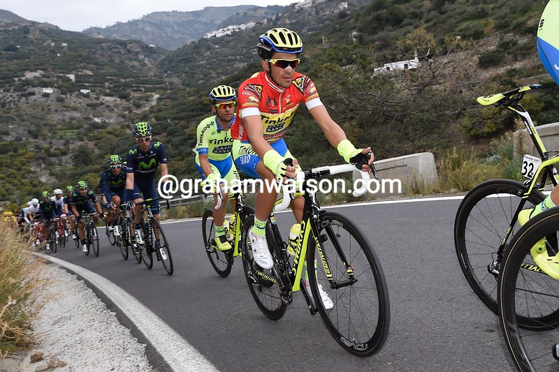 Alberto Contador in action during Stage 3 of the 2015 Tour of Andalucia Ruta Del Sol