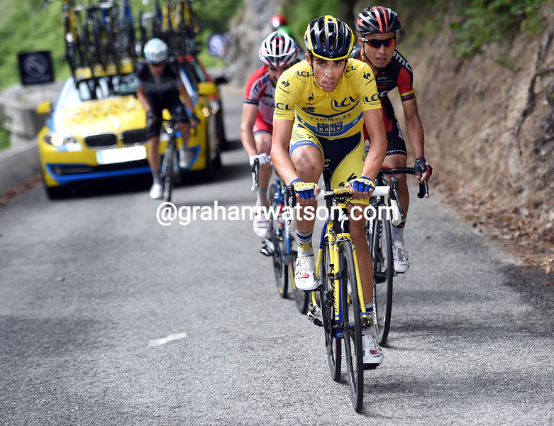 Alberto Contador during Stage 8 of the 2014 Dauphine Libere