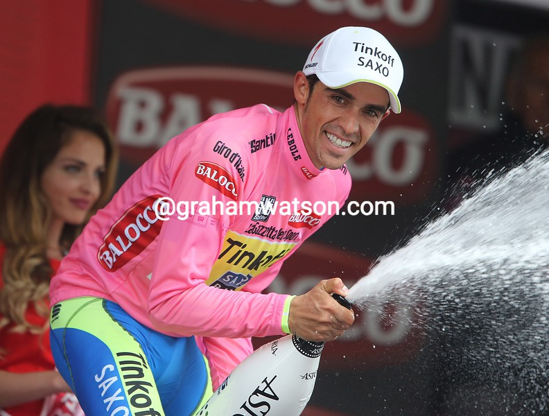 Alberto Contador on stage fifteen of the 2015 Tour of Italy